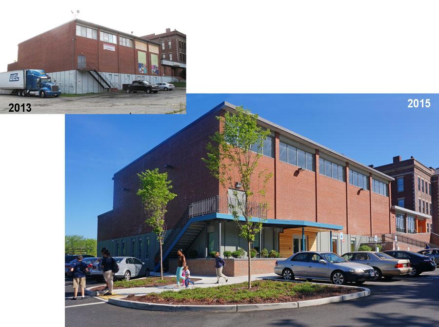 Building renovation design for the Lena Park Community Center.