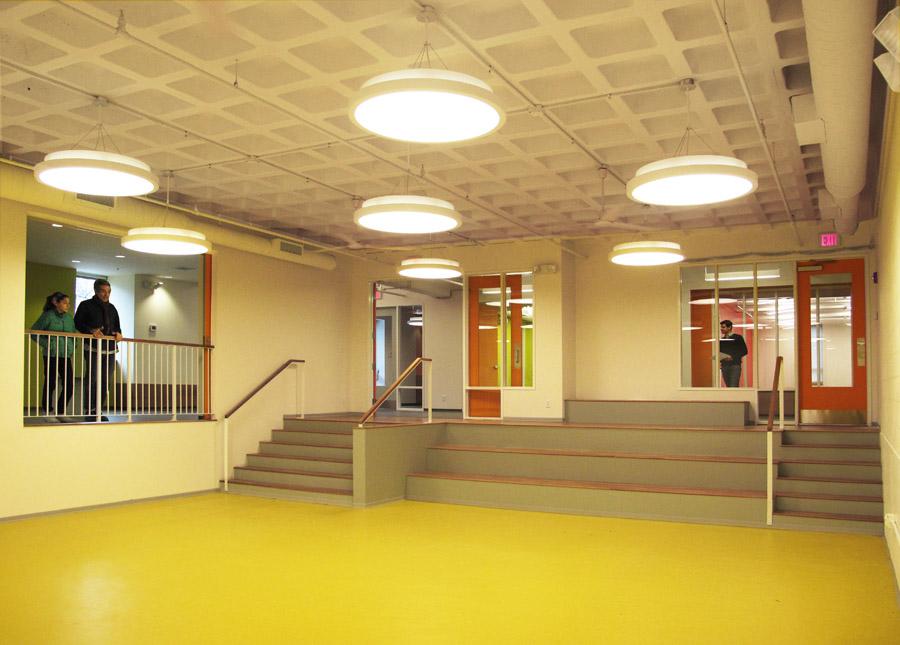 Community center design for the community room in the Lena Park Community Center