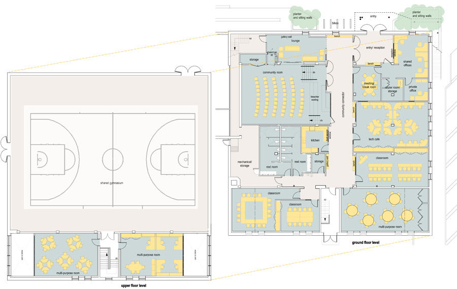 Lena Park community center floor plan.