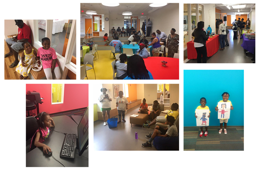 Community center design in action at the Lena Park community center.