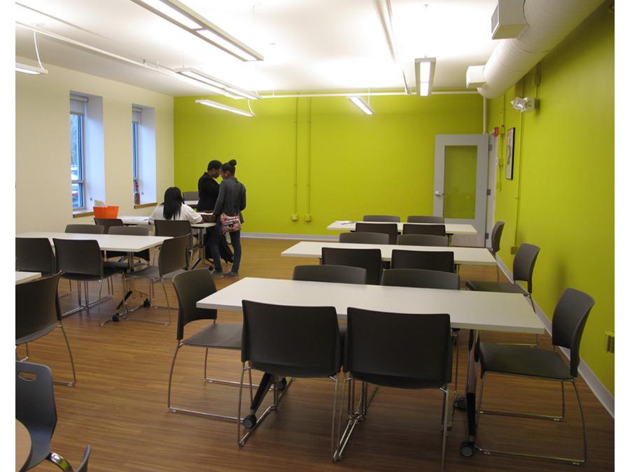 Community center design for the Lena Park mulitpurpose room.