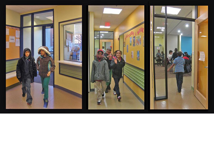 Cheerful hallways in the RTH ASP community design.