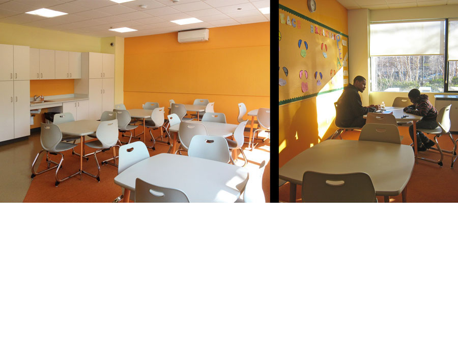 Sunny classroom in the RTH community design
