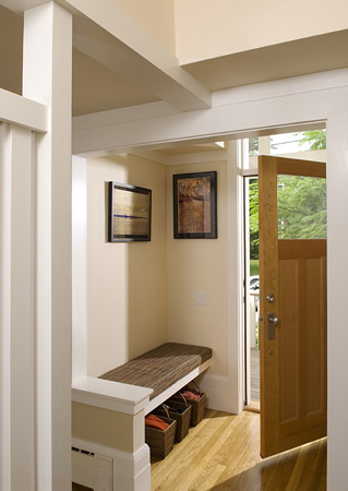 Welcoming, functional entryway.