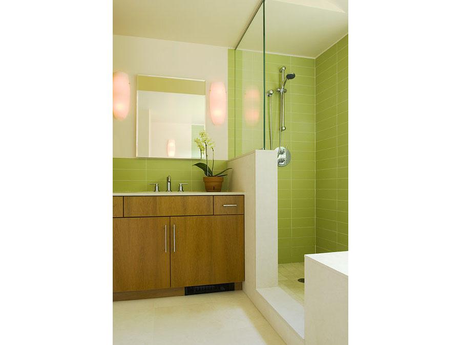 The lovely bathroom in the Jamaica Plain house.