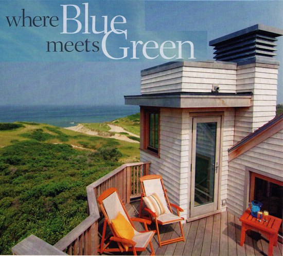 Cape Cod and Islands Magazine - Blue meets Green