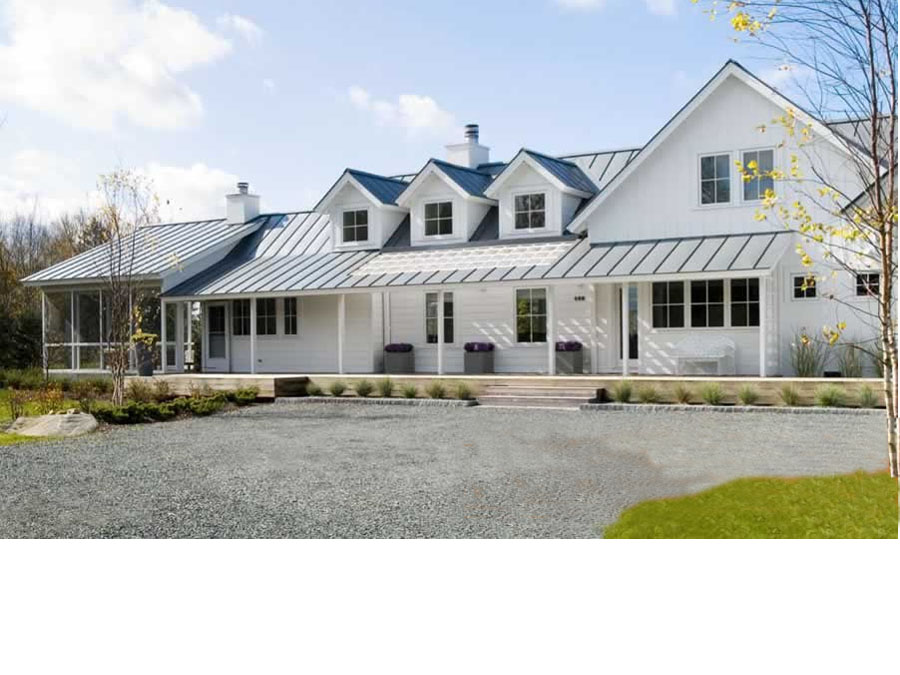 Green home design can fit any exterior style.