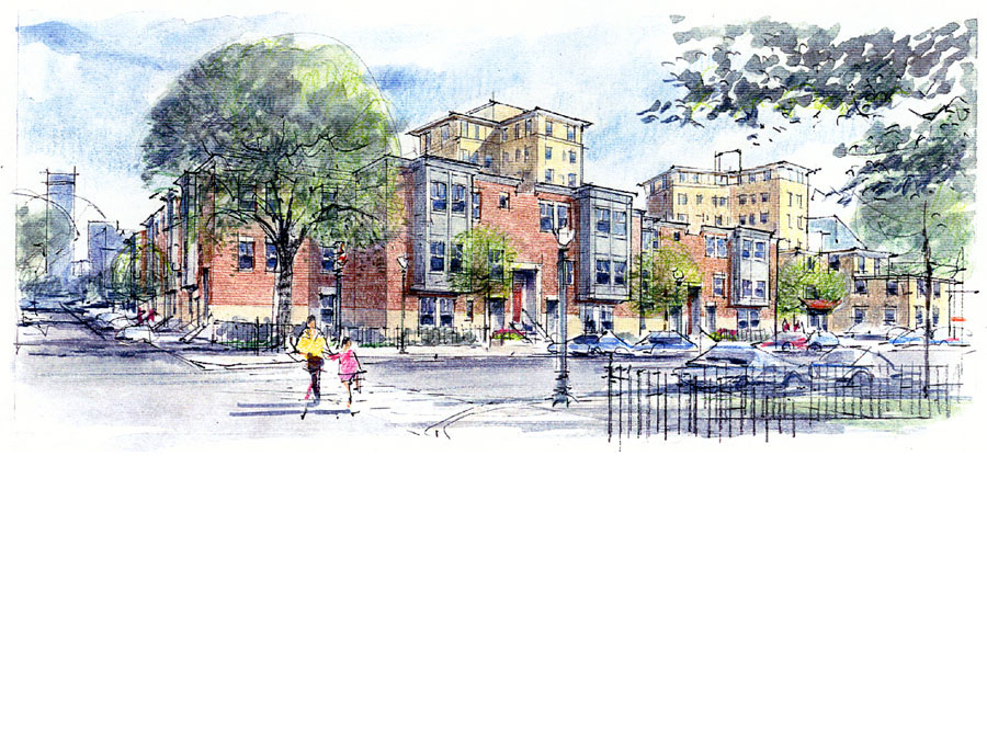 Master planning housing for the Cathedral development proposal.