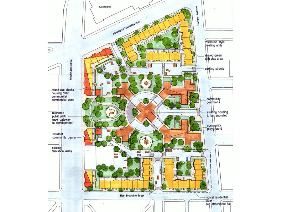 Master planning of the Cathedral housing development.