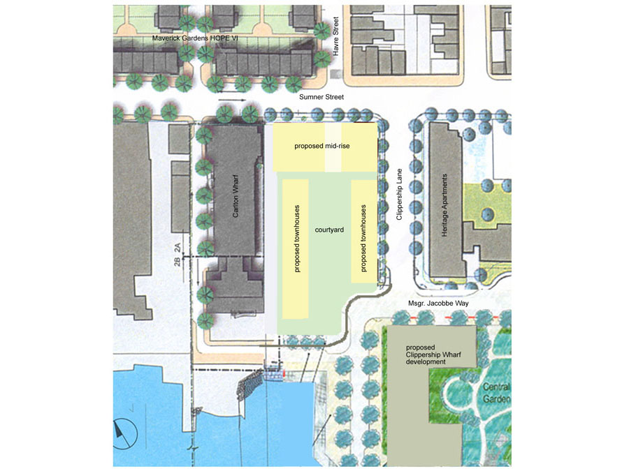 Master planning for the Clippership family housing project.