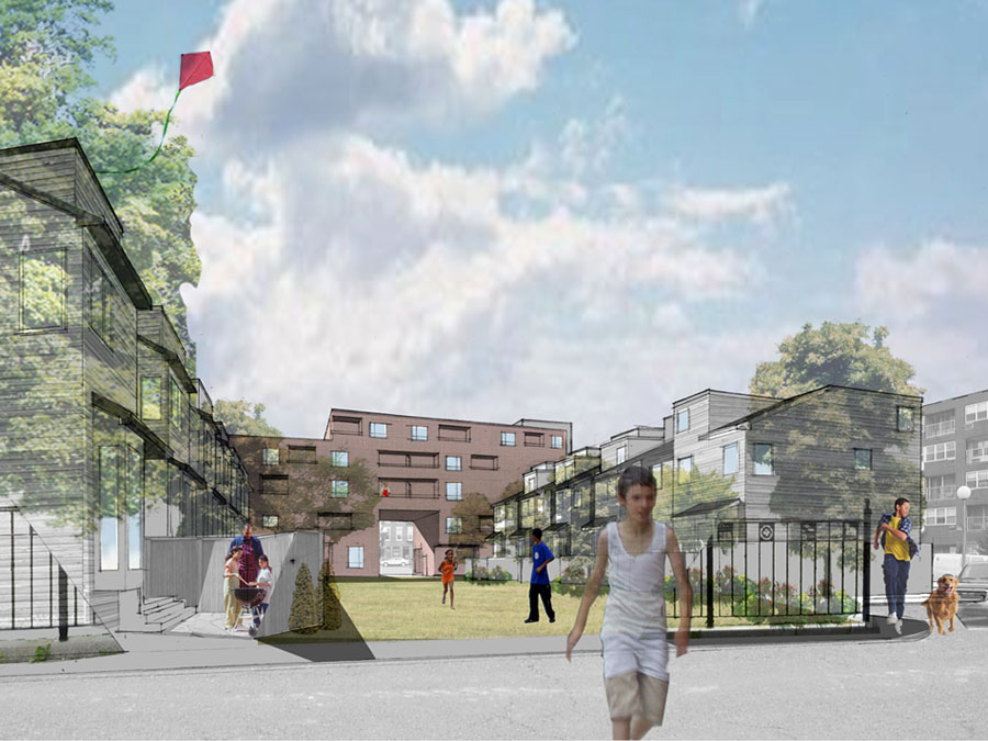 Community design for the Clippership family housing.