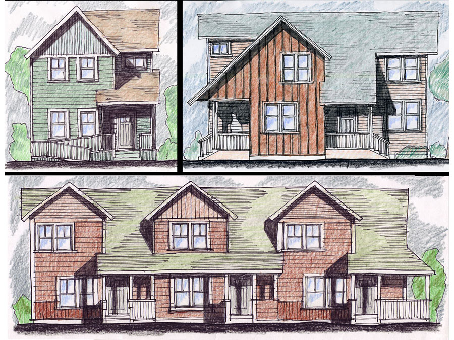 Test elevations for the New Haven proposal.