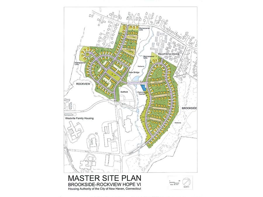 Masterplan for the New Haven proposal.