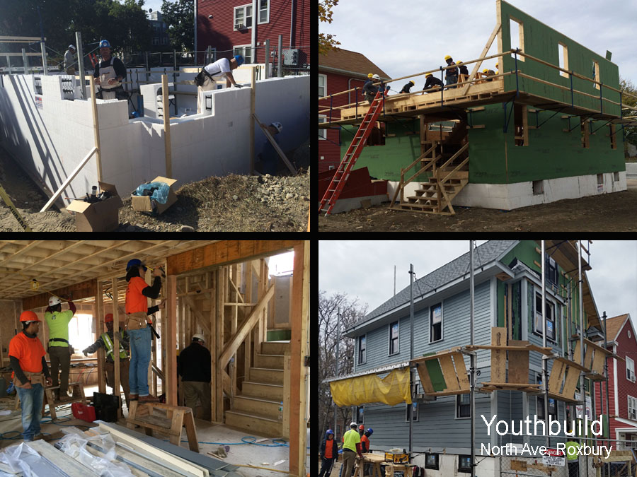Youthbuild at work on a sustainable home design