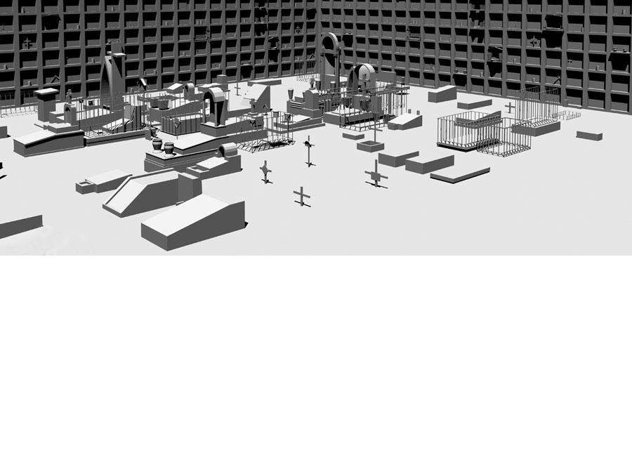 Model of the Guanajuato Cemetery.