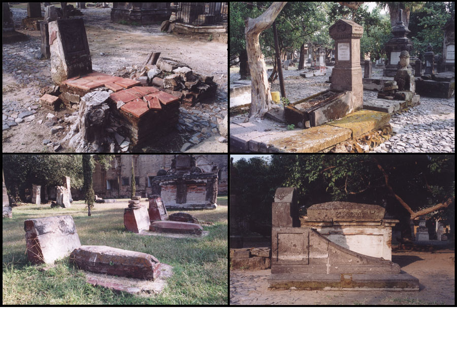 Older graves of Mexico.