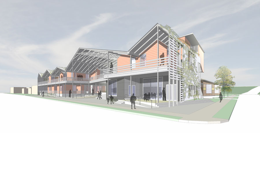 Perspective view of the community design for New Orleans.
