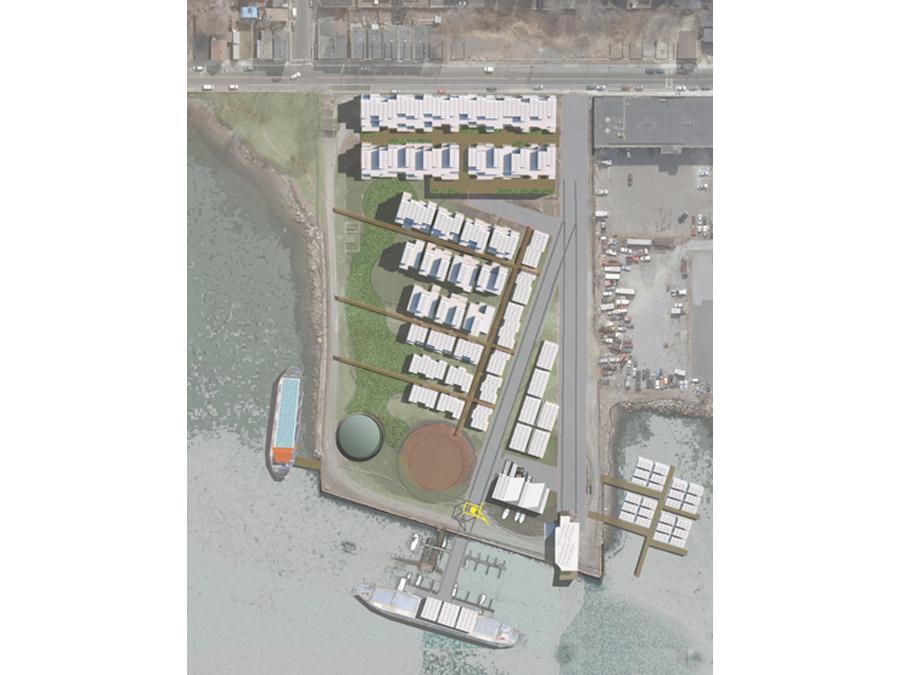 Site plan for the ReGen Boston community design.