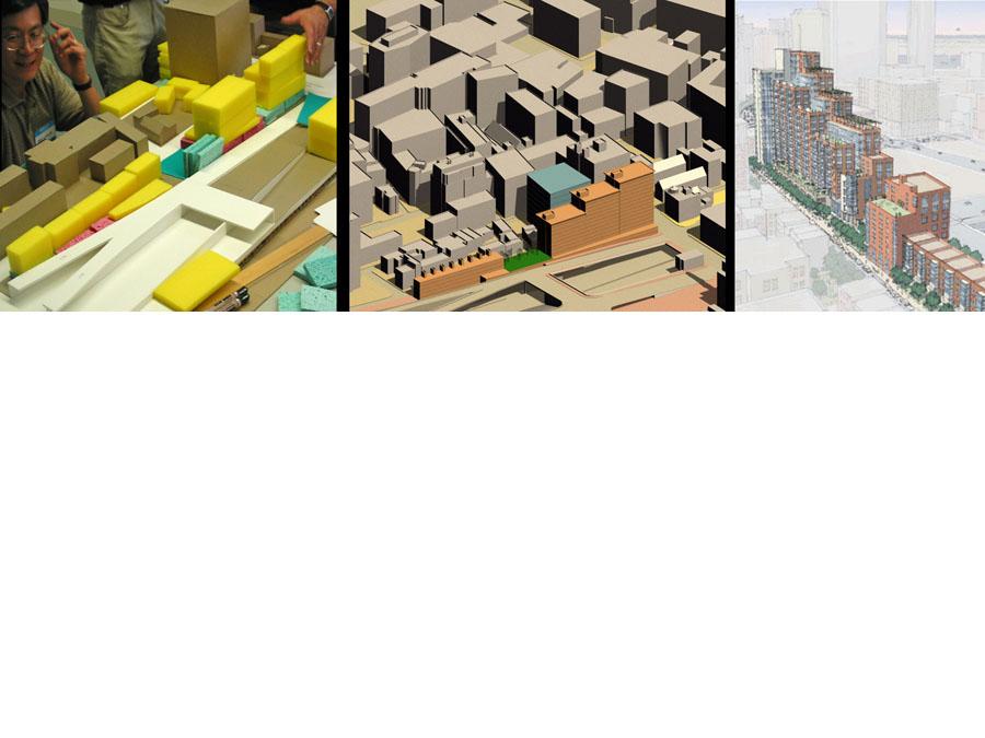Stages of models for Parcel 24.