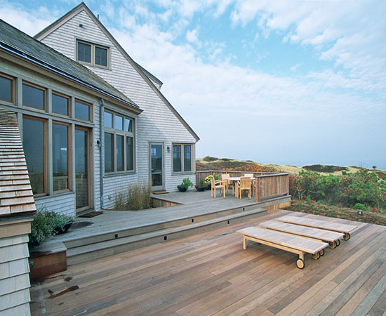 The Cape Cod house.