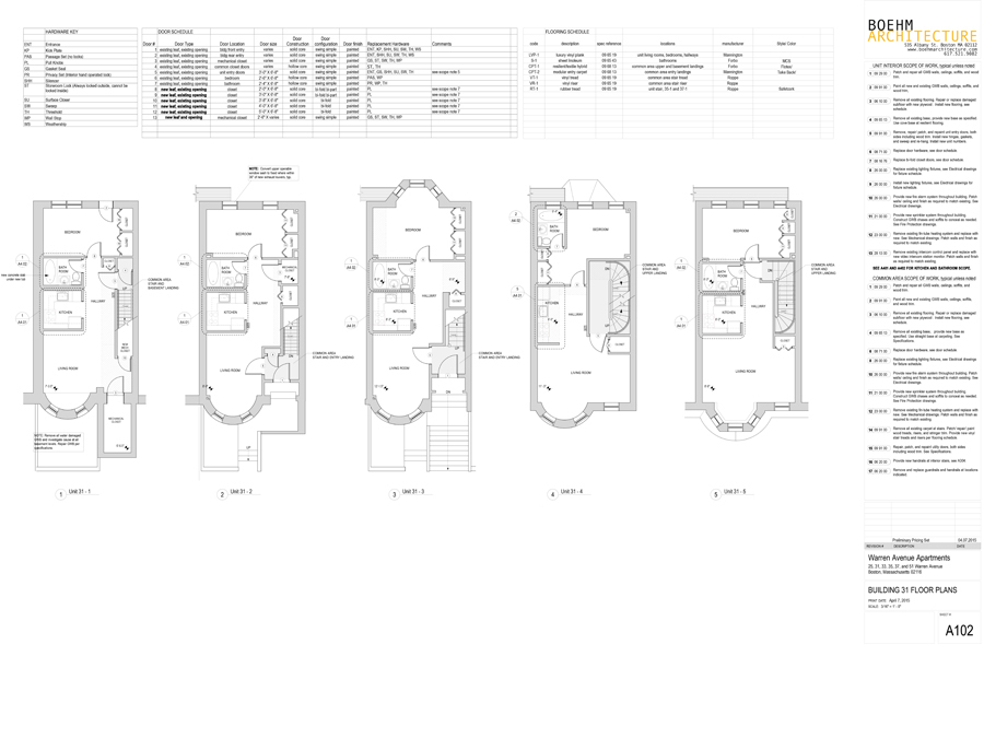 Warren Ave affordable housing floor plans