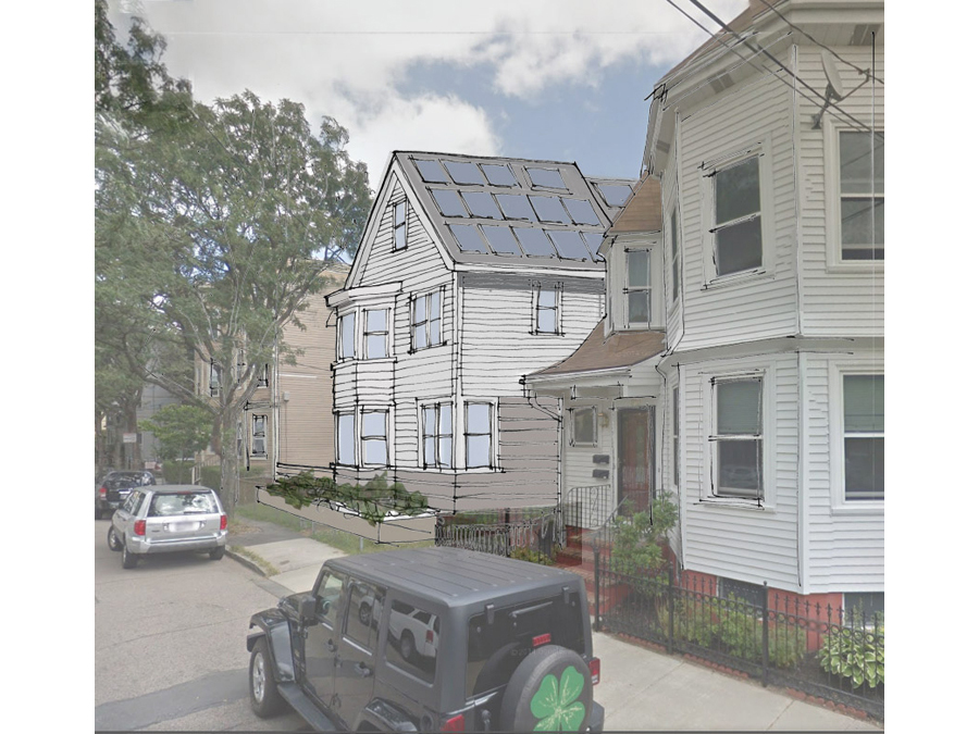 This green home design outside of Boston in Cambridge will shortly be up for historic review