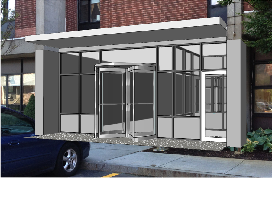 Boston affordable housing entry design