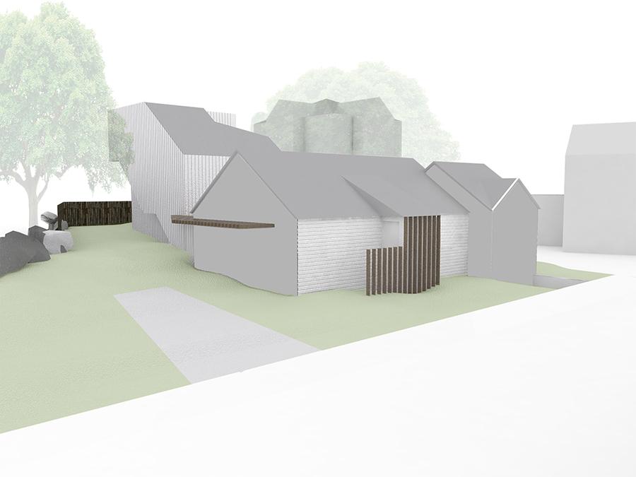 Newtown house exterior rendering