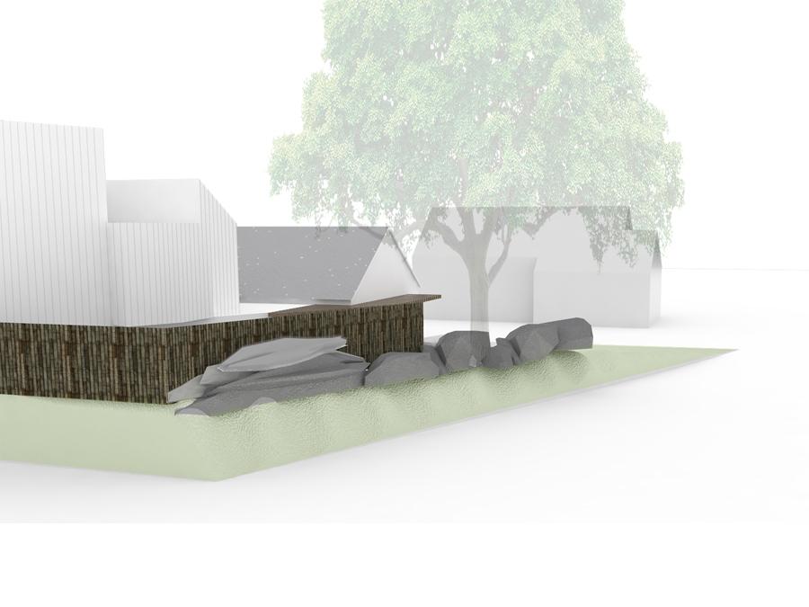 newton house street view rendering