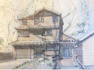 Thumbnail of Boston green home design entry view