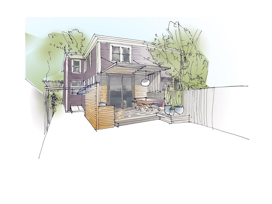 Cambridge green home design exterior