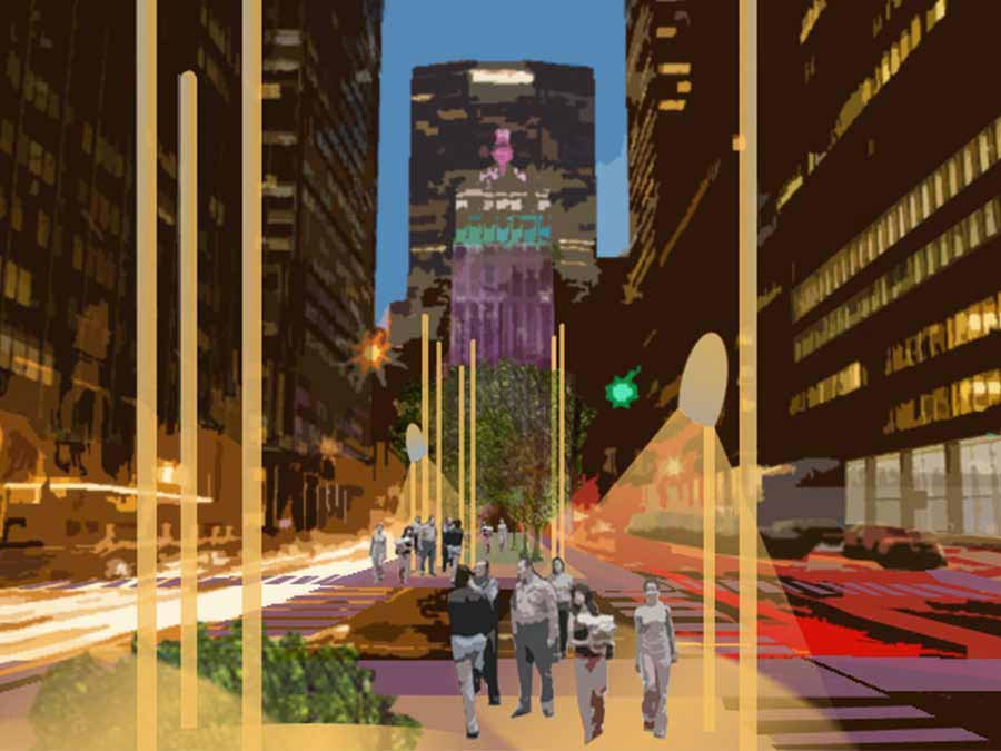 PARKs Avenue centerline competition walkway concept