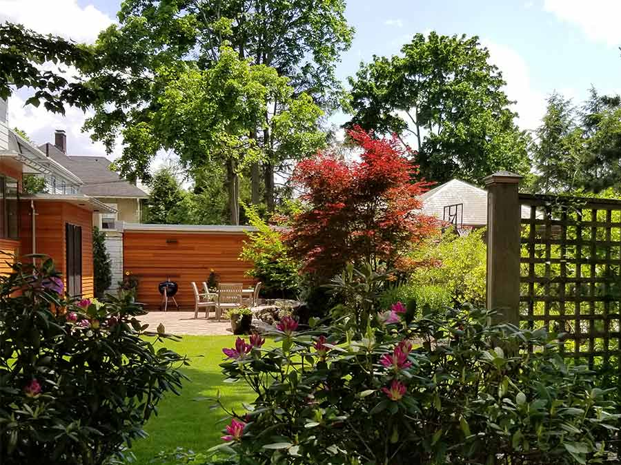 Newton exterior facade and backyard renovation