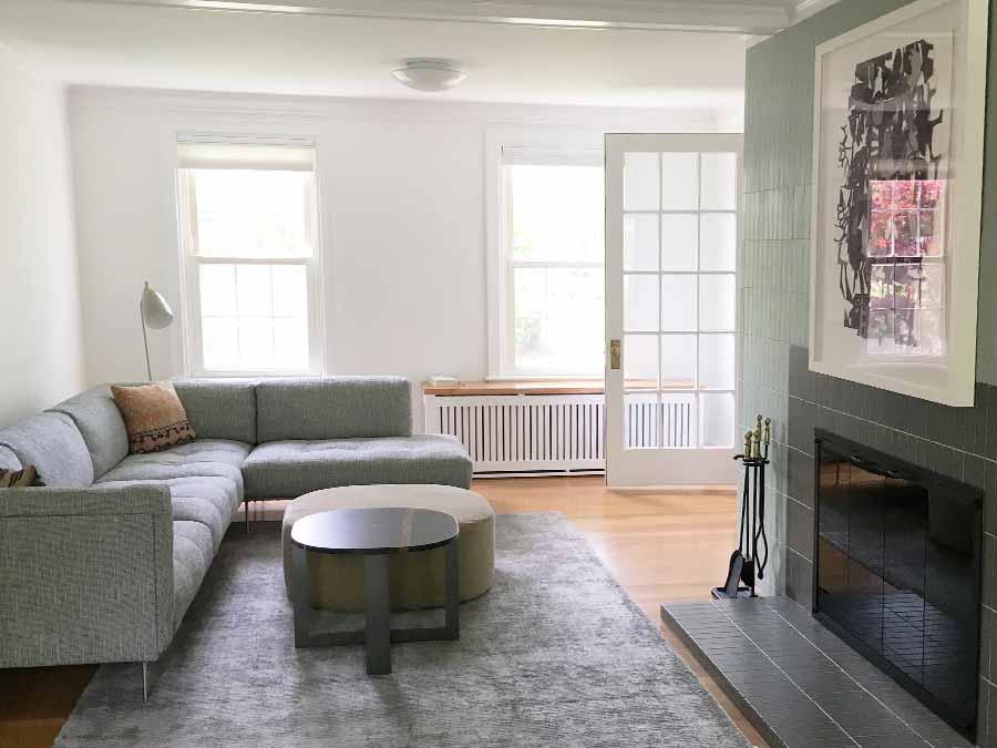 Newton living room renovation