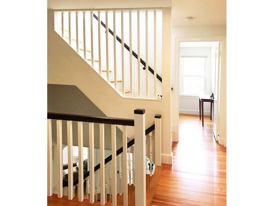 Newton second floor stair renovation