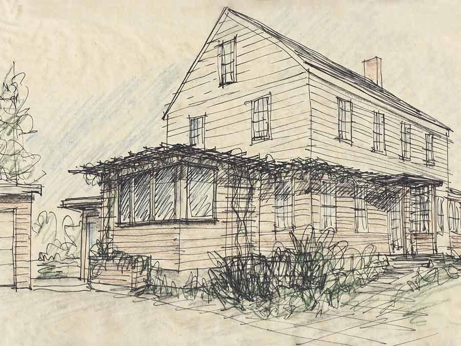 Newton renovation schematic design sketch