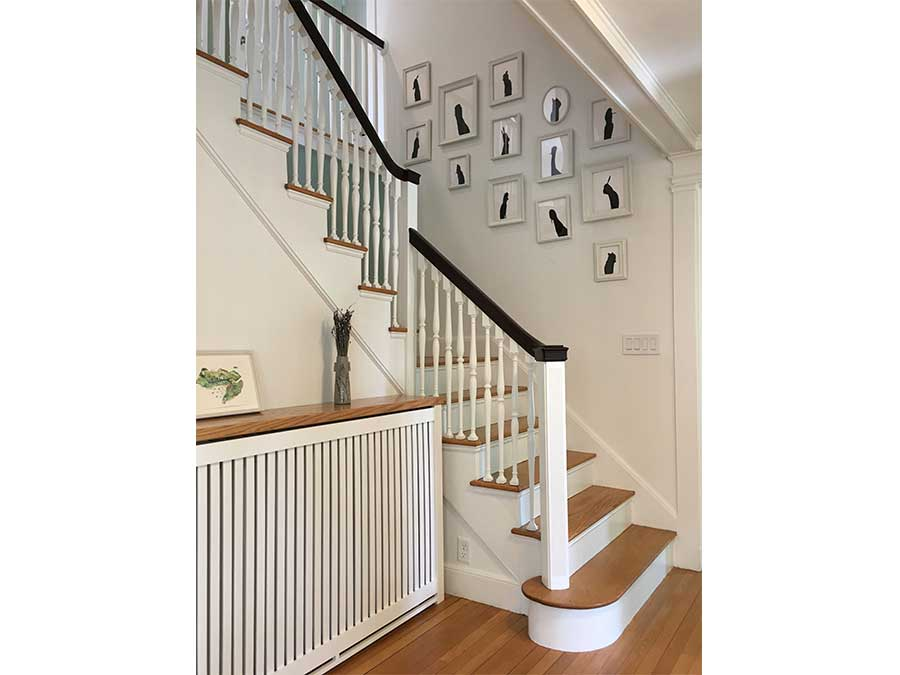 Newton interior stair renovation